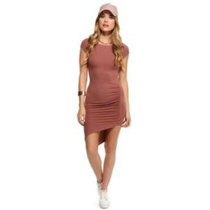 Mauve Talk About Ruched Dress